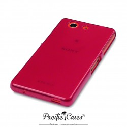 Coque pour Sony Xperia Z3 Compact rouge translucide