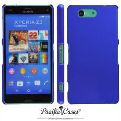 Coque pour Sony Xperia Z3 Compact touché gomme bleu