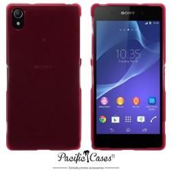 Coque rouge translucide pour Sony Xperia Z2 par Pacific Cases