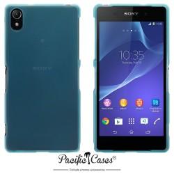 Coque bleu translucide pour Sony Xperia Z2 par Pacific Cases