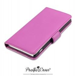 Etui rose folio pour Sony Xperia Z2 Pacific Cases