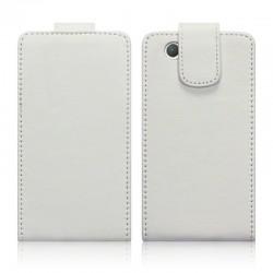 Etui blanc à clapet pour Sony Xperia Z1 Compact
