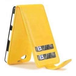 Etui jaune à clapet pour Sony Xperia Z1 Compact