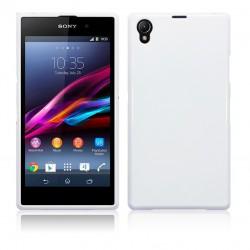 Coque blanc brillant pour Sony Xperia Z1