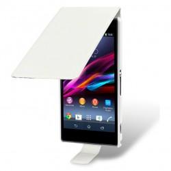 Etui blanc ouverture clapet pour Sony Xperia Z1