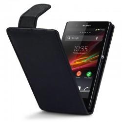 Etui noir à clapet pour Sony Xperia Z