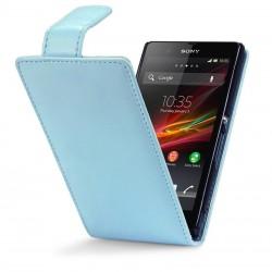 Etui bleu clair à clapet pour Sony Xperia Z