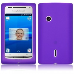 Coque souple violette pour Sony-Ericsson Xperia X8