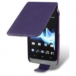 Etui violet à ouverture clapet pour Sony Xperia Tipo