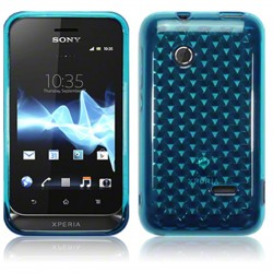 Coque bleu translucide pour Sony Xperia Tipo