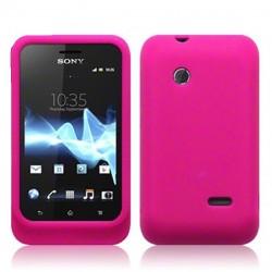 Coque silicone rose pour Sony Xperia Tipo