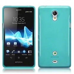 Coque bleu clair translucide pour Sony Xperia T