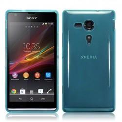 Coque bleu translucide pour Sony Xperia SP