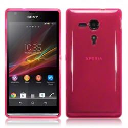 Coque rose translucide pour Sony Xperia SP