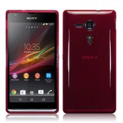 Coque rouge translucide pour Sony Xperia SP