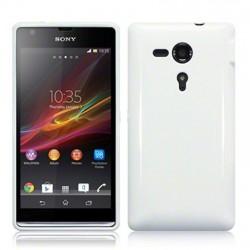 Coque blanc brillant pour Sony Xperia SP