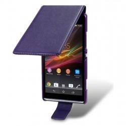 Etui mauve ouverture clapet pour Sony Xperia SP