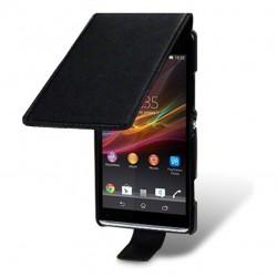 Etui noir ouverture clapet pour Sony Xperia SP