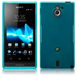 Coque bleue translucide pour Sony Xperia Sola