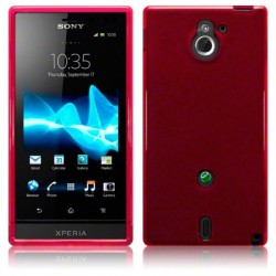 Coque rouge translucide pour Sony Xperia Sola