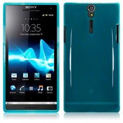 Coque bleue translucide pour Sony Xperia S