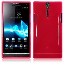 Coque rose translucide pour Sony Xperia S
