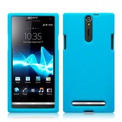 Coque silicone bleu clair pour Sony Xperia S