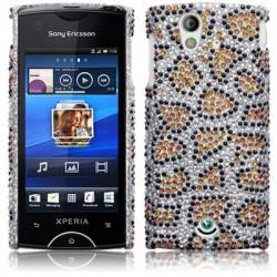 Coque rigide diamants et motifs léopard Sony-Ericsson Xperia Ray