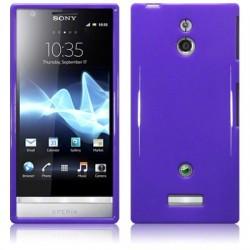 Coque mauve brillant pour Sony Xperia P