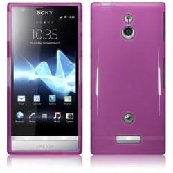Coque mauve translucide brillant pour Sony Xperia P