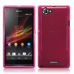 Coque rose translucide pour Sony Xperia L