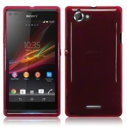 Coque rouge translucide pour Sony Xperia L