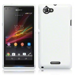 Coque blanc brillant pour Sony Xperia L