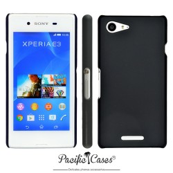 Coque pour Sony Xperia E3 touché gomme noire marque Pacific Cases®