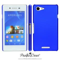 Coque pour Sony Xperia E3 touché gomme bleu foncé marque Pacific Cases®