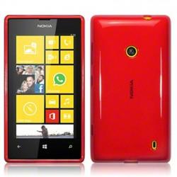 Coque rouge translucide pour Nokia Lumia 520