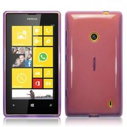 Coque pourpre translucide pour Nokia Lumia 520