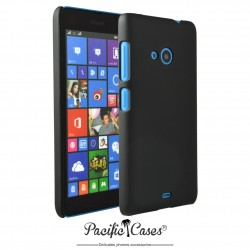 Coque pour Microsoft Lumia 535 touché gomme Pacific Cases - noir