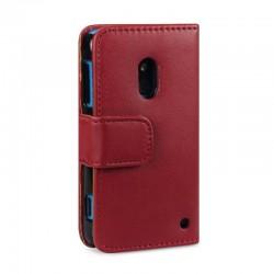 Etui rouge ouverture porte-feuille pour Nokia Lumia 620