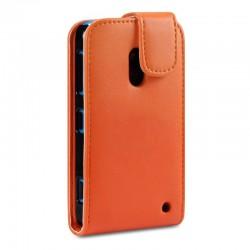 Etui orange à clapet pour Nokia Lumia 620
