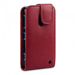 Etui rouge à clapet pour Nokia Lumia 620