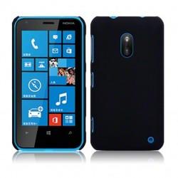 Coque noir mat rigide touché gomme pour Nokia Lumia 620