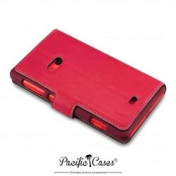 étui pour Nokia Lumia 625 rouge folio fonction stand