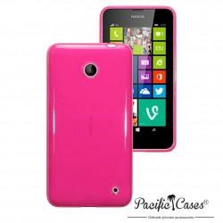 Coque rose translucide pour Nokia Lumia 630
