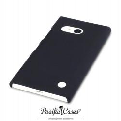 Coque pour Nokia Lumia 730 / 735 noire touché gomme
