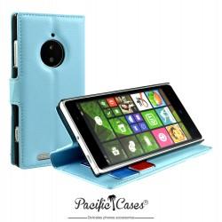 étui pour Nokia lumia 830 fonction stand bleu clair marque Pacific Cases®