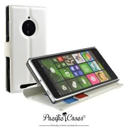 étui pour Nokia lumia 830 fonction stand blanc marque Pacific Cases®