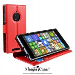 étui pour Nokia lumia 830 fonction stand rouge marque Pacific Cases®
