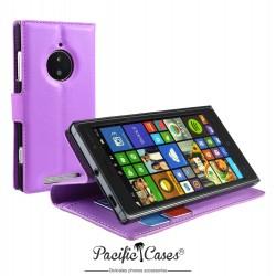 étui pour Nokia lumia 830 fonction stand mauve marque Pacific Cases®