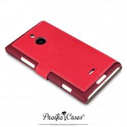 étui pour Nokia Lumia 1520 rouge folio fonction stand